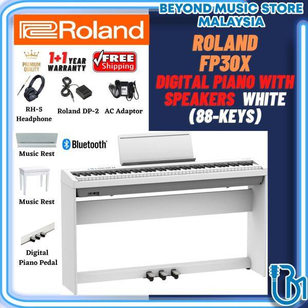 **2021** Roland FP-30X 88-Key Digital Piano Home Package with Dedicated Stand, Pedals, Headphone and Music Rest (FP30X / FP 30X) Malaysia