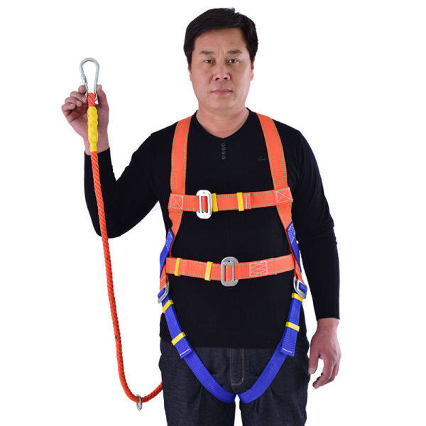 Five-point seat belt full body European aerial work safety belt wear-resistant safety rope air conditioning installation electrician belt