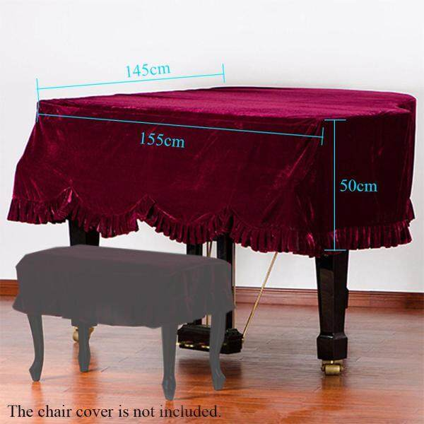 Grand Piano Pleuche Bordered Dust Protective Cover Cloth Malaysia