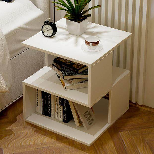 Bedside Table  Nightstand Storage Organizer with Installment Teaching Video By Olive Al Home