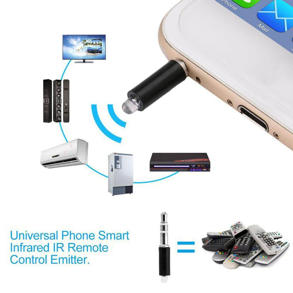 LAGOBUY phone infrared transmitter APP Remote Applicable For TV, air  conditioner, set-top box, fan, et