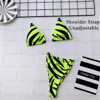 In-X 3 piece swimsuit women Neon green bikini 2020 Sexy push up swimwear women String micro bikini set High cut bathing suit new thumbnail