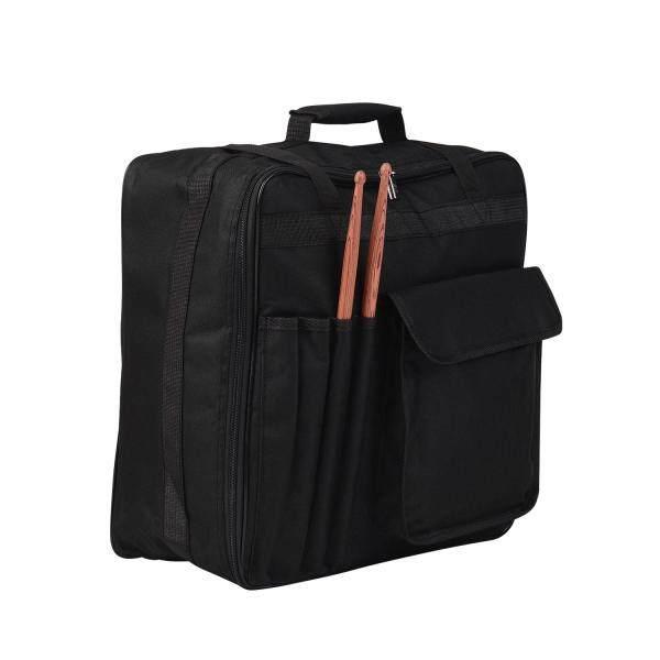 Professional 14 Inch Snare Drum Bag with Shoulder Strap Outside Pockets Musical Instrument Backpack Case Black