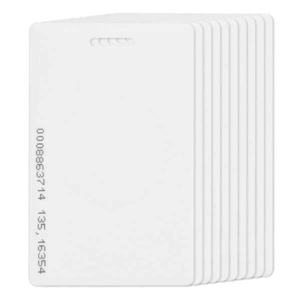 10pcs RFID 125KHz Proximity ID Cards Blank White Plastic Entry Access Card