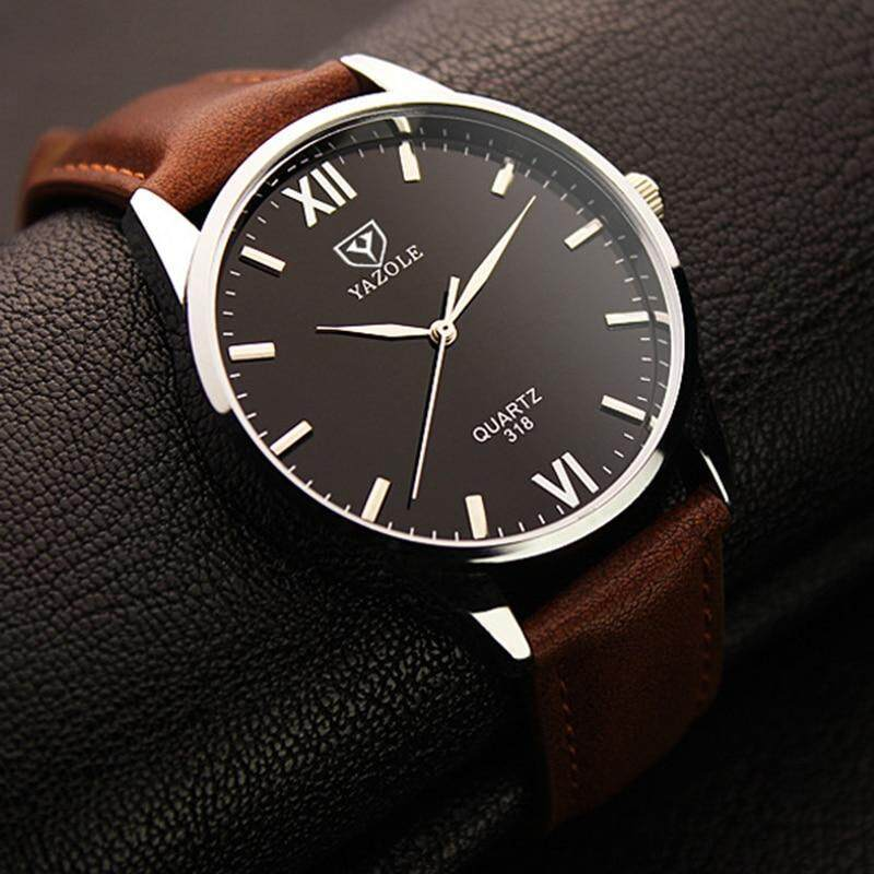 Nơi bán 2019 Yazole Watch Simple Hook Needle Business Watch Roman Scale Male Soft Leather Watch Mens Quartz Watches