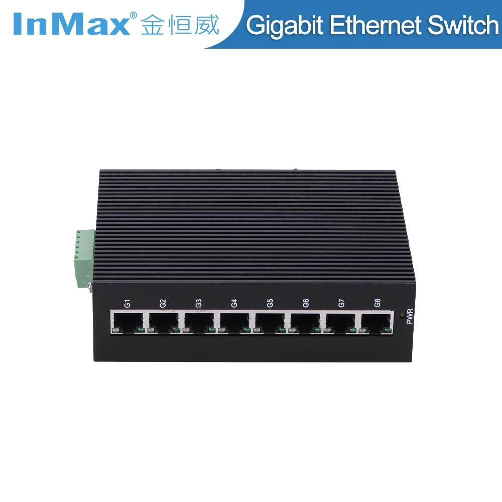 Inmax I508a 8 Port 1000 M Din Rail Penuh Gigabit Saklar Ethernet Industri By Inmax.
