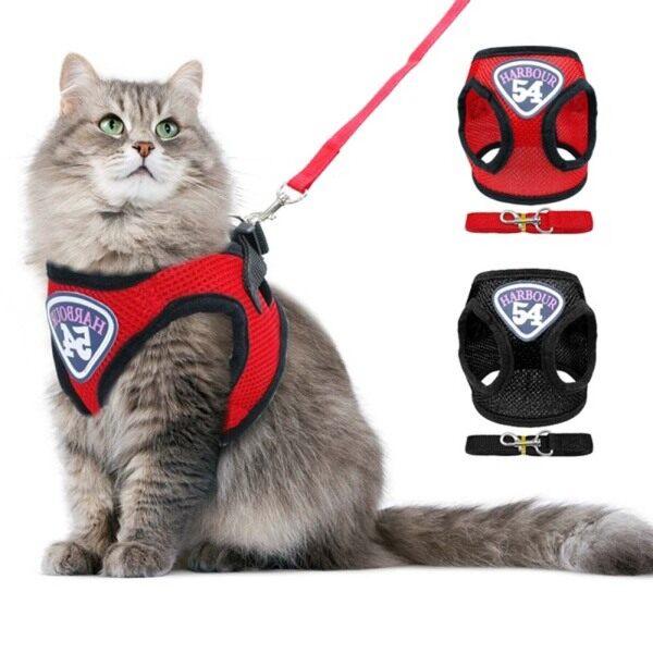 Áo Nịt Chó Con Điều Chỉnh Được Cho Thú Cưng Đồ Dùng Cho Chó Mèo Áo Vest Cho Chó Dây Dắt Cổ Mèo