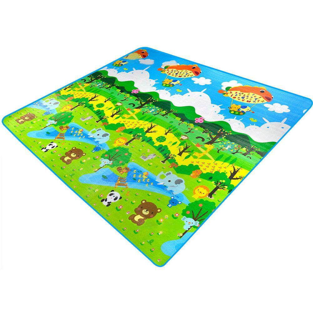 LF 2*1.8M Baby's Forest & Botanical Garden Double-sided Crawling Mat