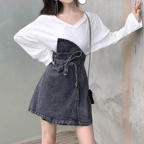 9f8c8710e0 Girls Republic lowest price v-neck casual long-sleeved T-shirt + flower