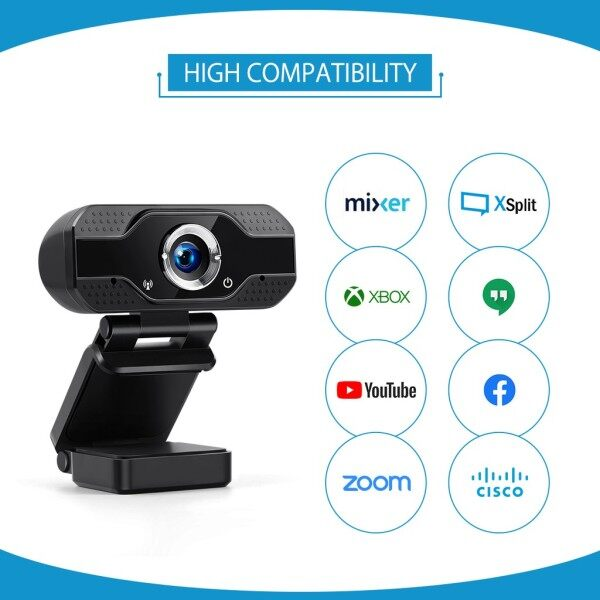 ♥Original Product+FREE♥1080P 130° Wide Angle Auto Focus USB Webcam 3.6mm Focus 30FPS 2MP HD Computer Camera Built-in Sound Microphone for Study Meeting PC Laptop PRO STREAM WEBCAM