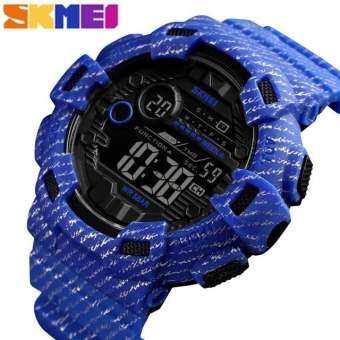 SKMEI แฟชั่นนาฬิกาสปอร์ตผู้ชายนาฬิกาปลุก 2 กันน้ำผู้ชายนาฬิกา DENIM Digital relogio masculino-