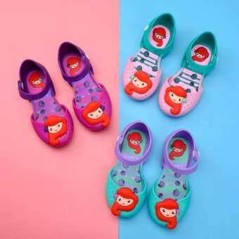 รองเท้าแตะรองเท้าวุ้น Mermaid เกาหลีรองเท้าเจ้าหญิงน่ารักรองเท้าแตะชายหาด-