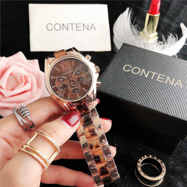 Korean casual fashion Imitation Ceramic Ladies Watch simple Roman quartz watch BPOV Malaysia