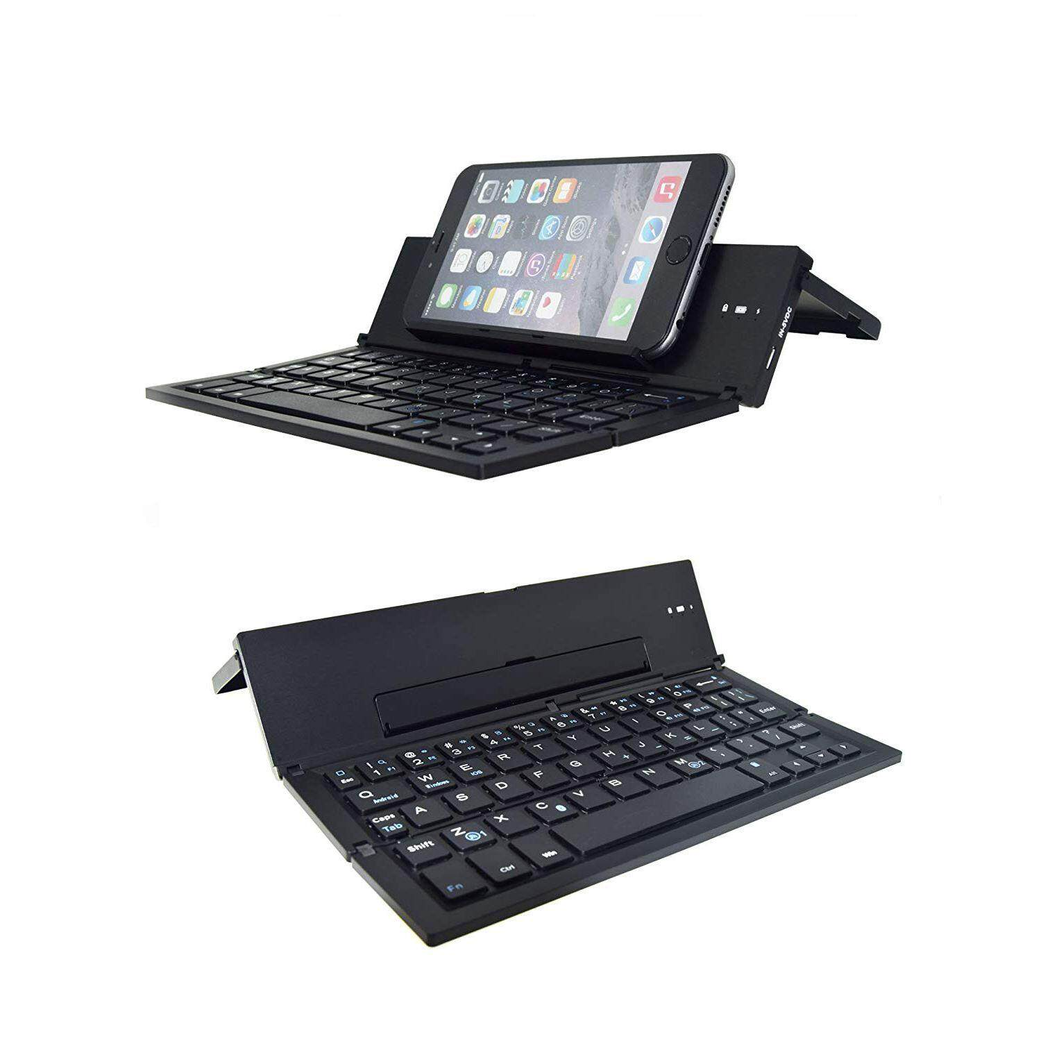 Folding Bluetooth Keyboard,Foldable Wireless Keyboard with Portable Pocket Size, Aluminum Alloy Housing, for iPad, iPhone,Android Devices, and Windows, Laptops and Smartphones Malaysia