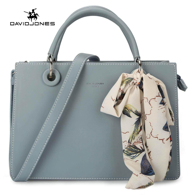 a84d55a2a195 DAVIDJONES women tote bag pu leather female crossbody bag large spring  scarve lady handbag girl summer