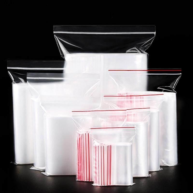 MeiYang 100 Pcs Plastic Ziplock Bags Jewelry Small Ziplock Bag Food Packaging Zip Lock Bags Clear