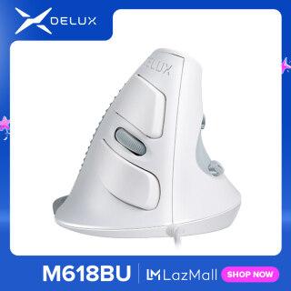 M618BU Chuột Đứng Trắng Có Dây Tiện Dụng 6 Nút USB Quang Chuột Phải Với Tấm Đỡ Cổ Tay Có Thể Tháo Rời Cho Laptop Máy Tính thumbnail