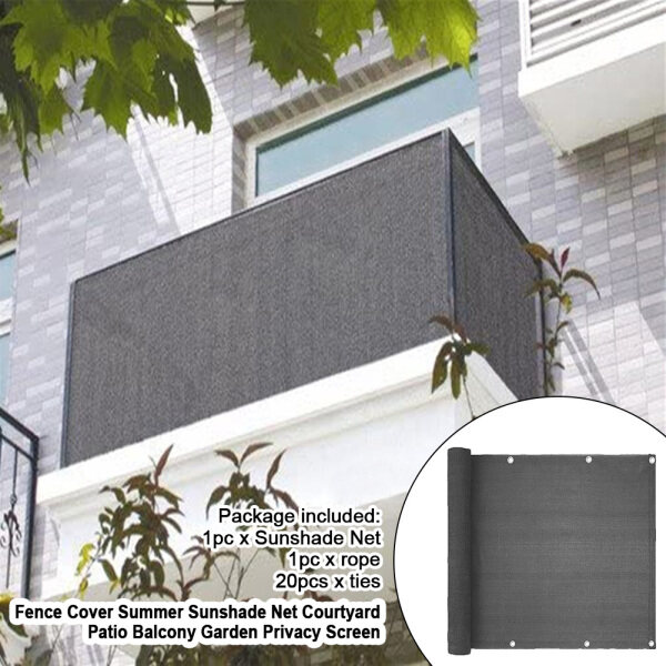 Sun Shade Mesh Canopy Awning Privacy Screen Wind Screen  Shelter 90% UV Blocking for Gazebo Patio Garden Outdoor Greenhouse Flower