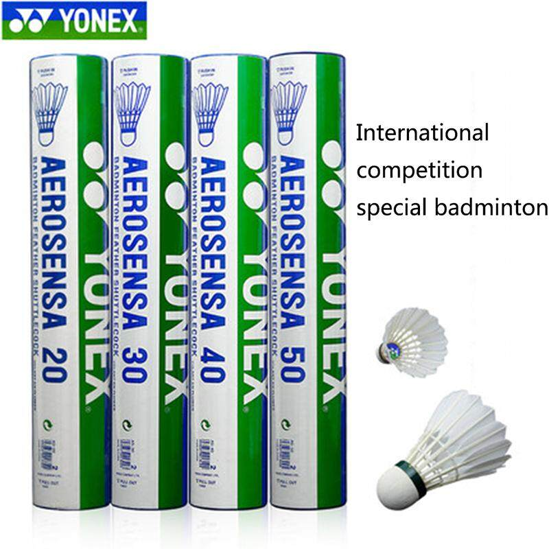 1 Tube Yonex Shuttlecocks As-20 As-30 As-40 As-50 As-05 For Competition Goose Feather Badminton Shuttlecock(12pcs) By Global Top Selling