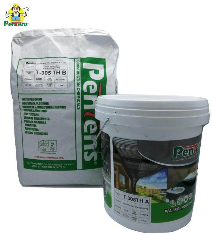 PENTENS T-305TH Flexible Cementitious Waterproofing Coating