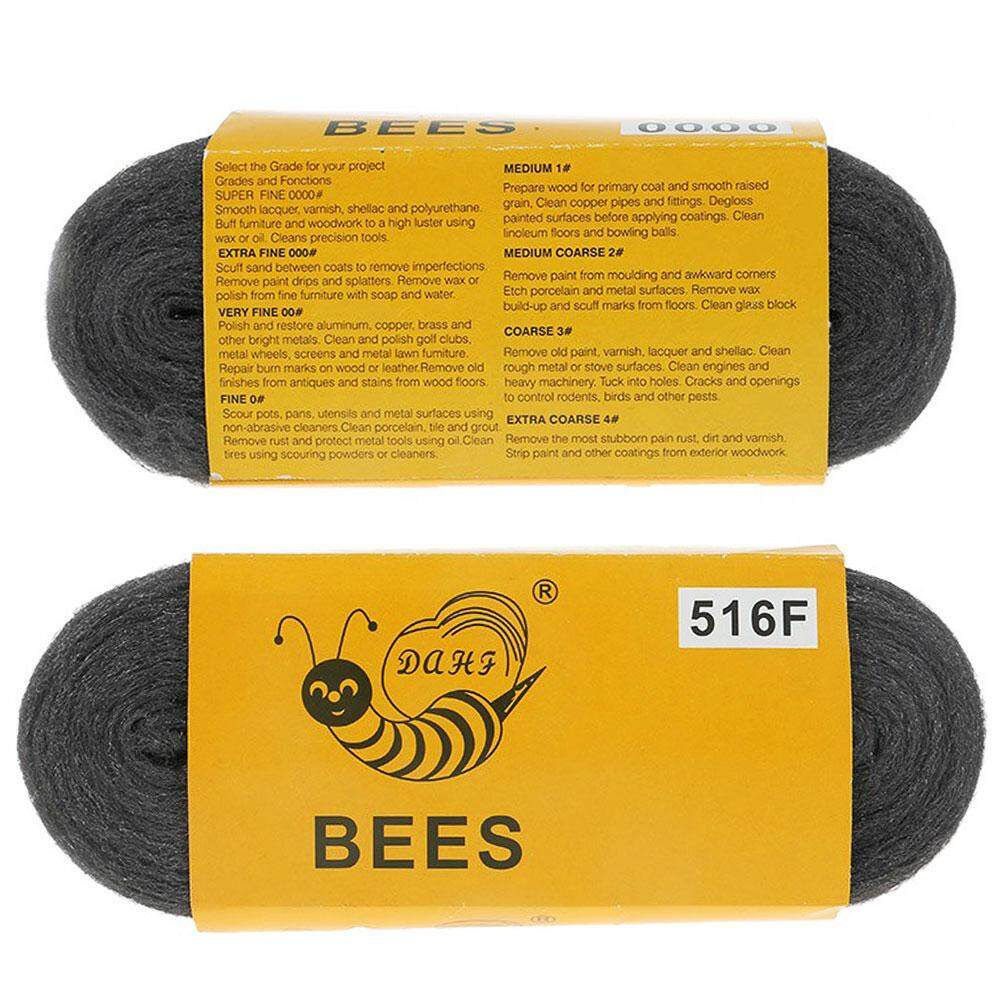 (Overseas Shipping)  Steel Wire Wool Fine Cleaning Polishing Plumbing Decorating Pad Non Crumble