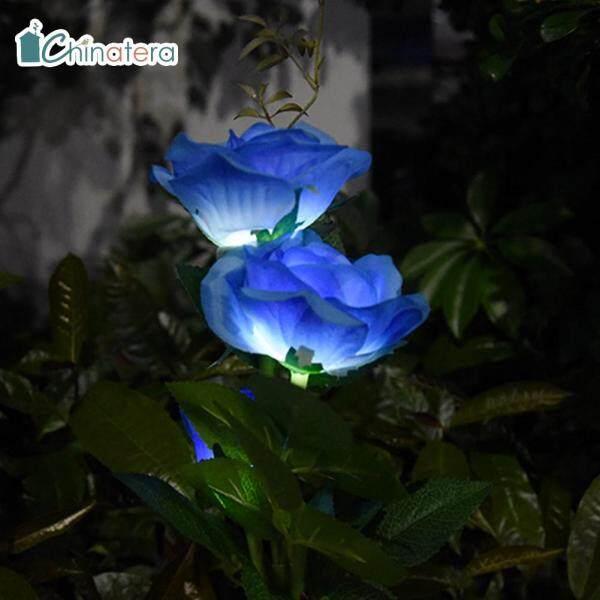 [Chinatera] IP65 Không Thấm Nước Sử Dụng Năng Lượng Mặt Trời 3 Đèn LED Hoa Hồng Sân Vườn Ngoài Trời Cỏ Đèn Chôn Đất Lễ Hội Đảng Trang Trí Lãng Mạn