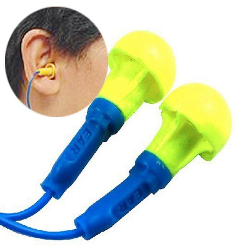 New Soft Foam Corded Ear Plugs Ears Protector Reusable Hearing Protection Noise Reduction Earplugs Earmuff Sleep