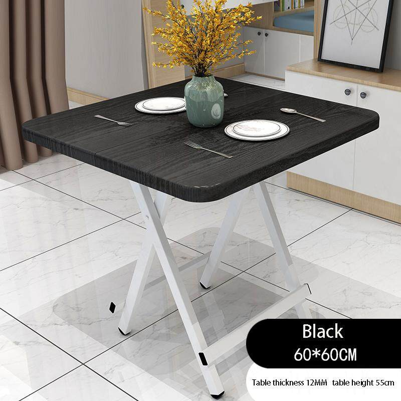 60x60x55CM/L W H, Thicken Special Simple Foldable Square Dining Table, Snack Table Set,Drop-leaf Table, Folding Table, Drop-leaf Table