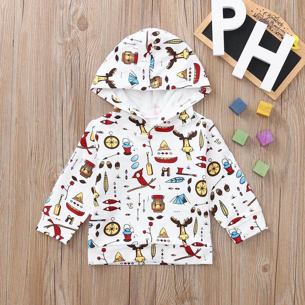 Tideshop Bayi Bayi Baru Lahir Anak Laki-Laki Gadis Kartun Atasan Kaus Bertopi Pakaian Pakaian By Tideshop.