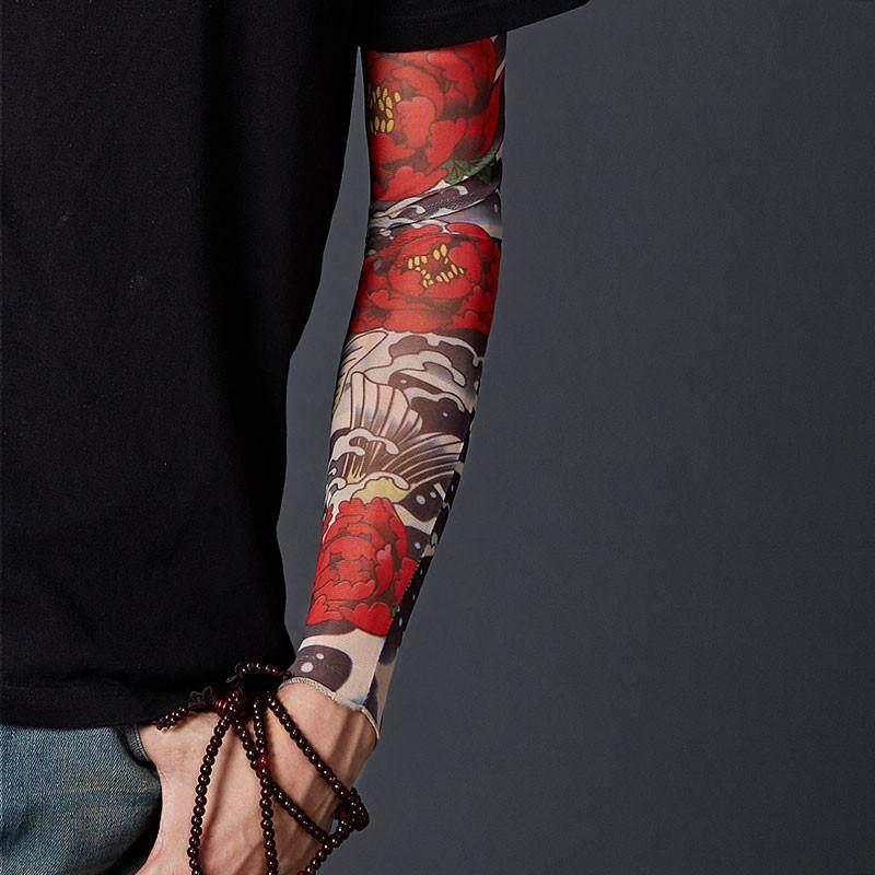 3D Tattoo Anti UV Ice Silk Arm Sleeve Seamless Unisex Outdoor Sunscreen Tools