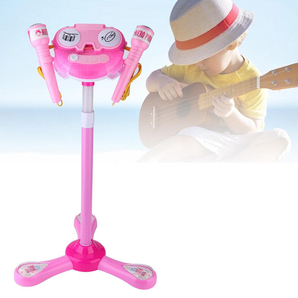 (ลดราคา)children Toy ชุดเครื่องคาราโอเกะไมโครโฟนของเล่นสำหรับเด็กระบบร้องเพลงที่บ้านเด็ก.