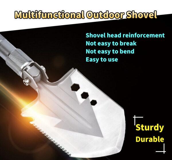 NAERSI NO325105 Garden Tools Portable Folding Shovel Multifunction Stainless Steel Survival Spade Trowel Snow Shov