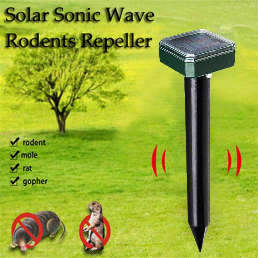 Malonestore 4 PC Ultrasonic Solar Repeller Courtyard Garden Lawn Animal Electronic Drive