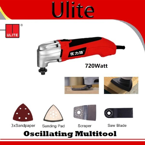 ULITE Oscillating Multitool / Renovator Tool Oscillating Trimmer Home / Woodworking Tools Multi Function / Multi Tool Electric Saw without Handle 720Watt