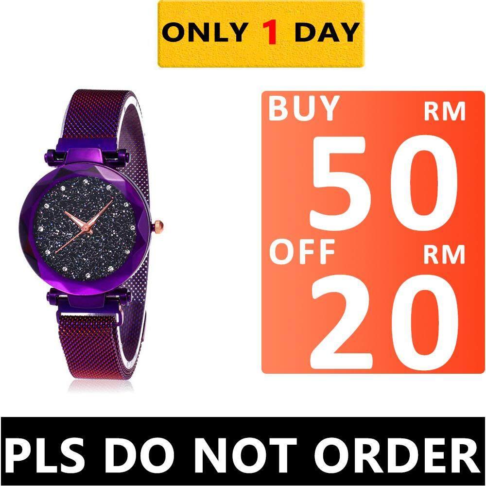 Business Watch for Women Jam Tangan Wanite Starry Sky Watch Waterproof Magnet Strap Buckle Stainless Steel Watch Malaysia