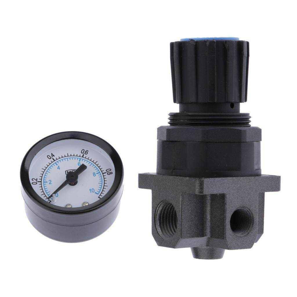 Dolity Plastic Air Pressure Relief Valve Compressor with Pressure Gauge - R200,1/4