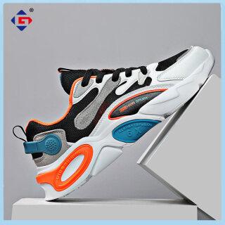 Giày Thể Thao GJF, Giày Chạy Bộ Nam Sinh Viên Trẻ Trung Thoáng Khí Mùa Hè Mới 2021, Giày Lưới Đế Mềm Chống Sốc Nhẹ Cho Nữ Giày Sneaker Nam thumbnail