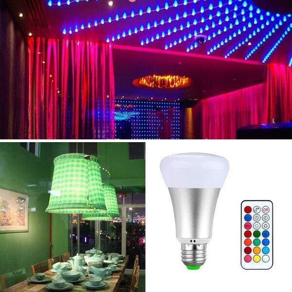 Bóng Đèn LED RGBW, Bóng Đèn Thay Đổi Màu Từ Xa 10W E27 Để Trang Trí Sân Khấu Trong Nhà