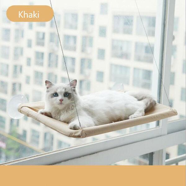 Senbilar Ghế Ngồi Nắng Gắn Cửa Sổ Cho Mèo, Vật Nuôi Võng, Ổ Đỡ Giường Treo Thoải Mái 15KG