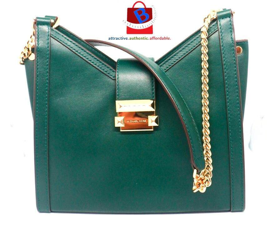 6c3799d73ef2 Michael Kors Whitney Small Chain Shoulder Tote Leather Bag 30H8GWHE0L-305