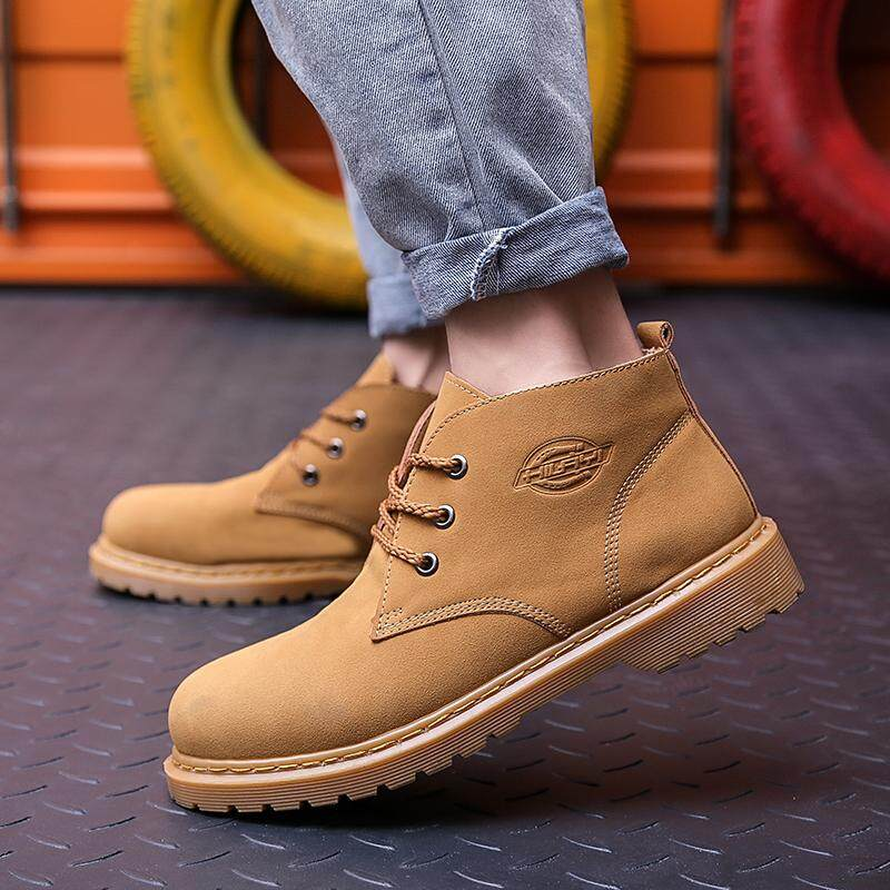 62fb70e0d584 Autumn and Winter Men s Shoes High-top Shoes Thick-soled Martin Boots  Tooling Boots Ankle Boots
