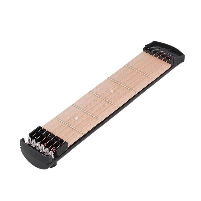 Black 6 String 6 Fret Protable Pocket Guitar Practice Tool Gadget Trainer Left Handed Malaysia