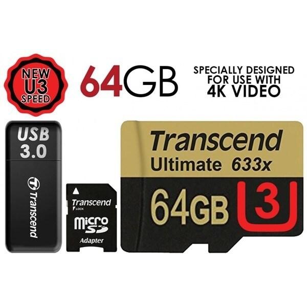 Fastfull Transcend thẻ SD Micro thẻ 8GB 16GB 32GB 64GB Memori kad với Adaptor