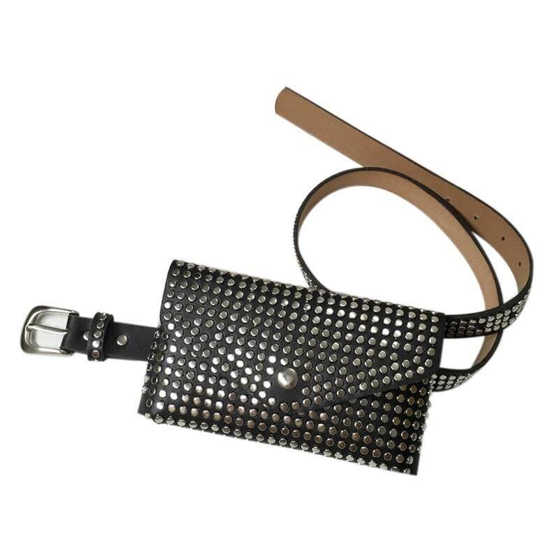 00a2e900e6c Fashion Rivets Waist Pack Luxury Designer Fanny Pack Small Women Waist Bag  Phone Pouch Punk Belt