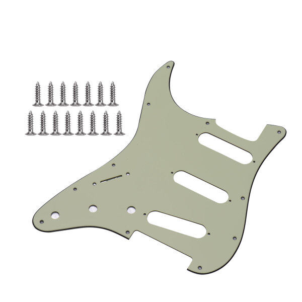 Left-handed 11 Hole Guitar Pickguard 3 Ply Panels Pickguard with Screws for ST Guitar Malaysia