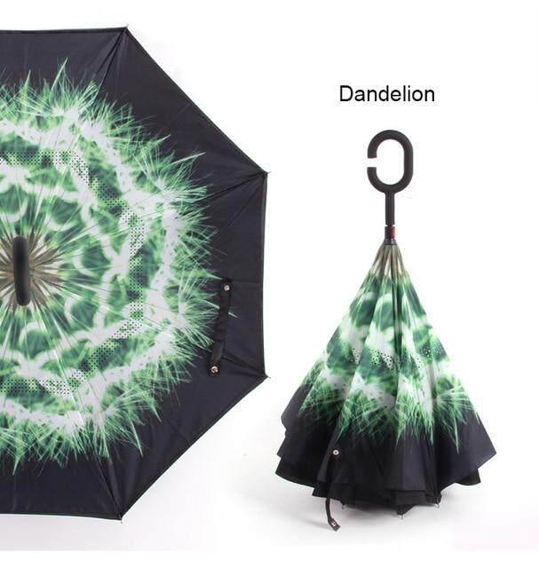 C manejar a prueba de viento inversa paraguas plegable hombre mujer sol lluvia coche invertida paraguas doble capa Anti UV auto soporte Parapluie,umbrella box package