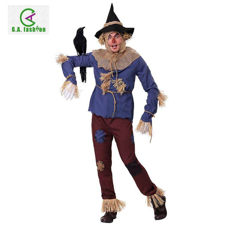 Halloween Annual Stage Performance Shows The Wizard of Oz Series Adult Scarecrow Cosplay Costume