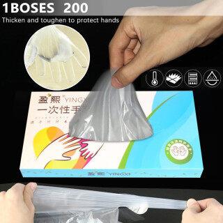AM 200 Chiếc Găng Tay Nhựa Dùng Một Lần Du Lịch Trong Suốt Làm Sạch Thực Phẩm Phục Vụ Làm Đẹp Mỹ thumbnail