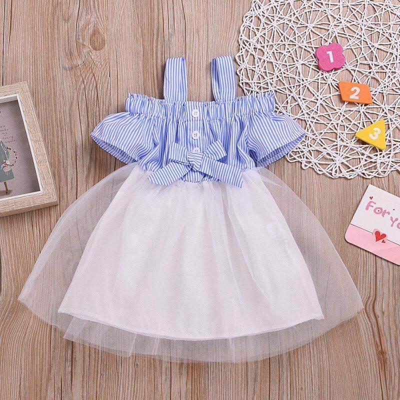 Toddler Baby Girls Tutu Skirt Ruffle Dress Princess Cotton Short Sleeve Sundress