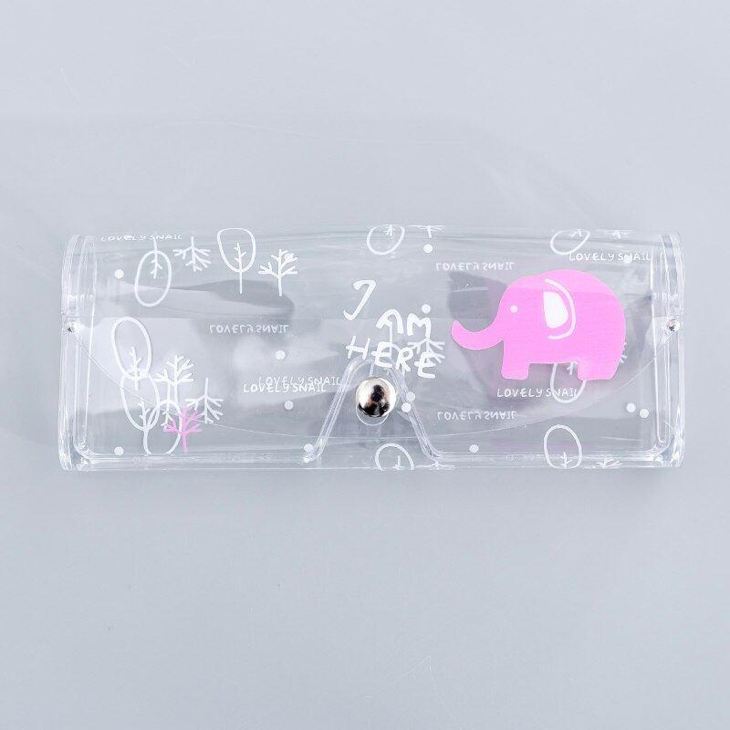 Giá bán 1 Cái Hình Hoạt Hình Dễ Thương Du Lịch Nữ Nhựa PVC Trong Suốt Mắt Hộp Túi Bảo Vệ Mang Theo Hộp Đựng Kính Mắt Accessory Cho Người Trưởng Thành /Trẻ Em